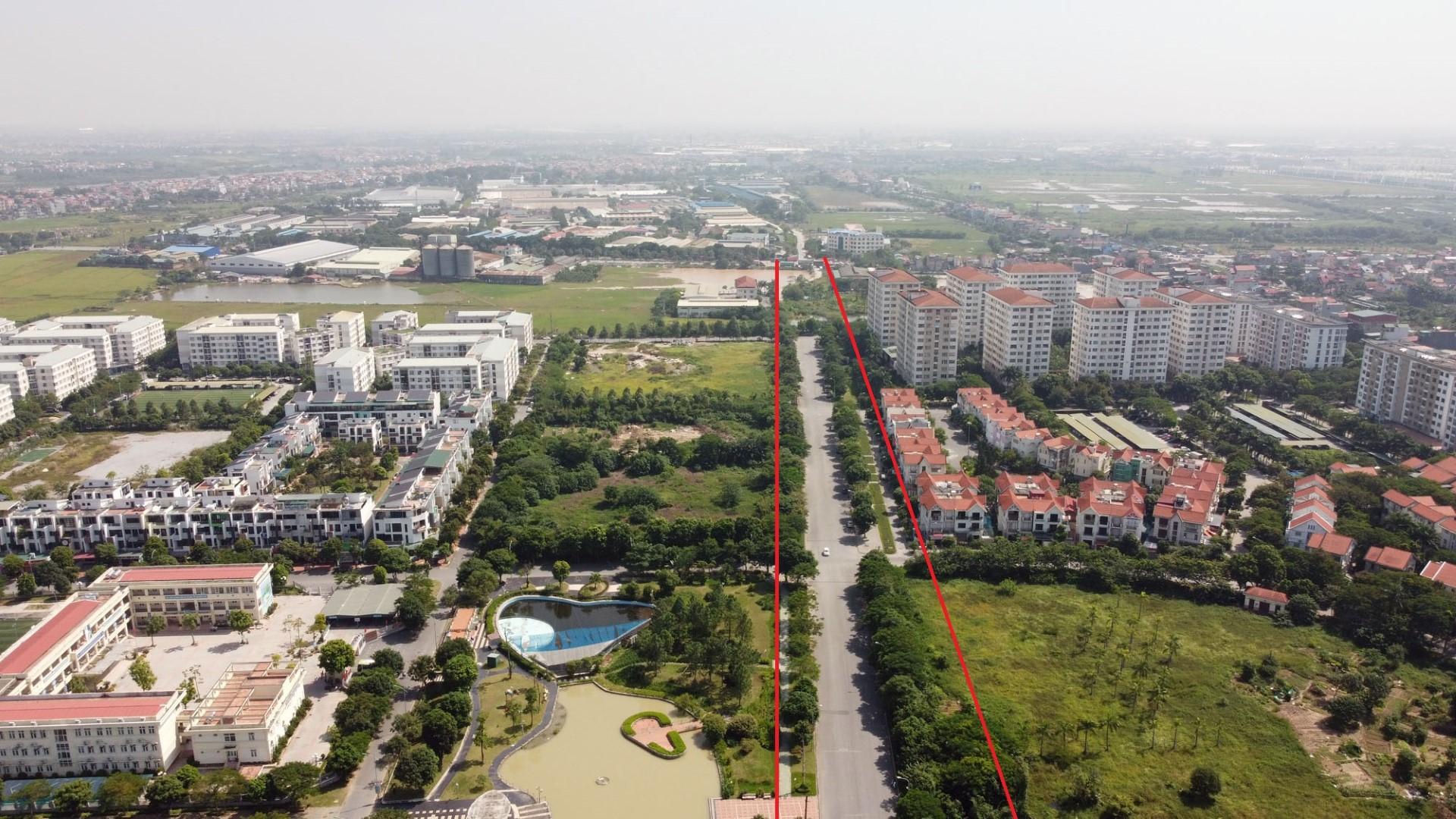 Theo qui hoạch, tuyến đường này qua KĐT Đặng Xá sẽ được mở rộng.
